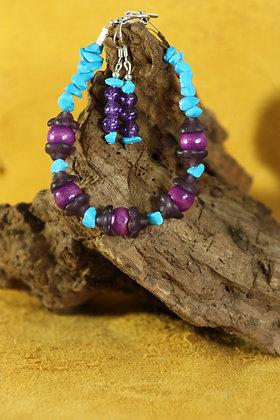 Turquoise Bracelet Earring Set