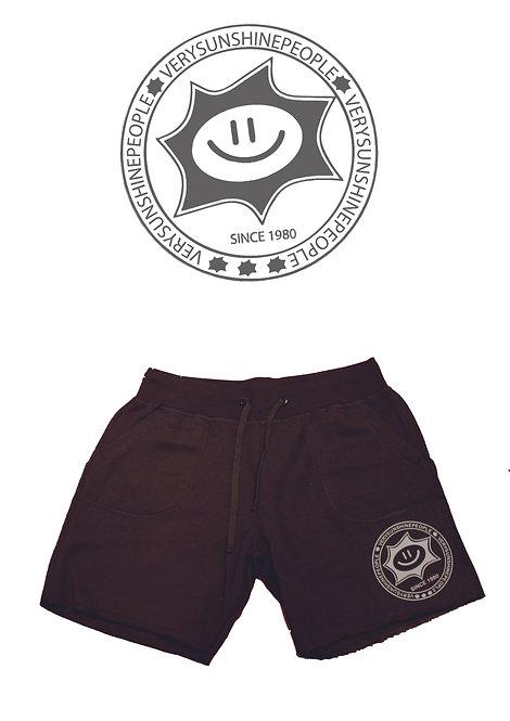 Shorts Felpati Sunshine Nero con logo Grigio