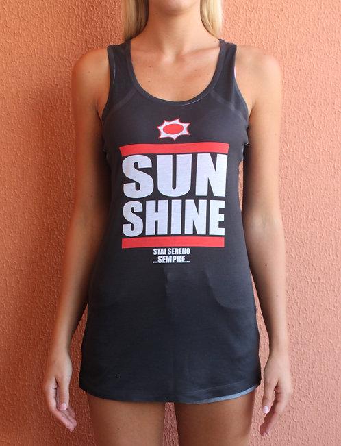 Canotta lunga/vestitino Sunshine nera