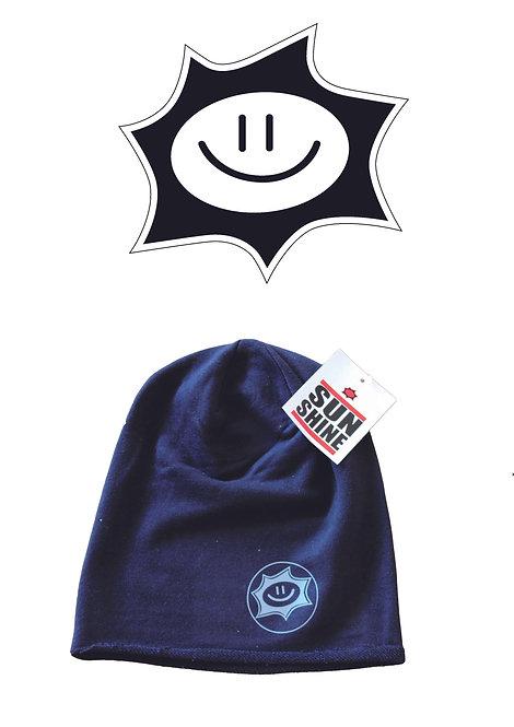 Cappellino in felpa Sunshine Nero con logo Grigio