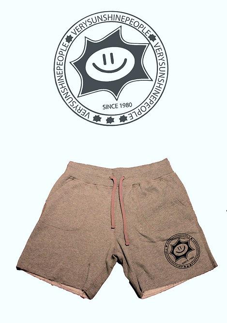 Shorts Felpati Sunshine Grigio con logo Nero