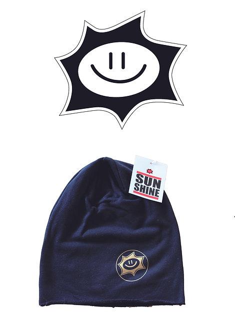 Cappellino in felpa Sunshine Nero con logo Oro
