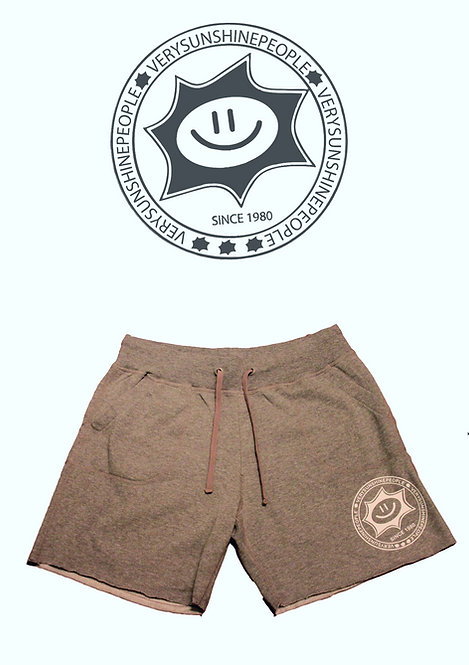 Shorts Felpati Sunshine Grigio con logo Bianco