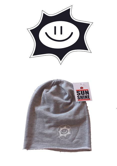 Cappellino in felpa Sunshine Grigio con logo White