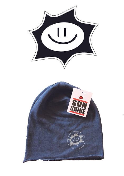 Cappellino in felpa Sunshine Blu con logo Grigio