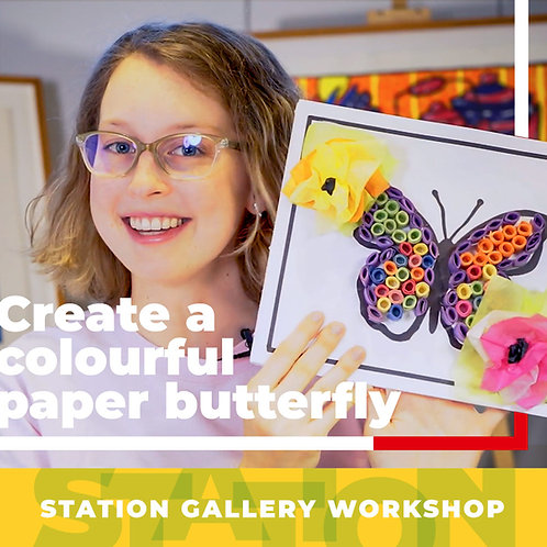 Create a Colourful Paper Quill Butterfly