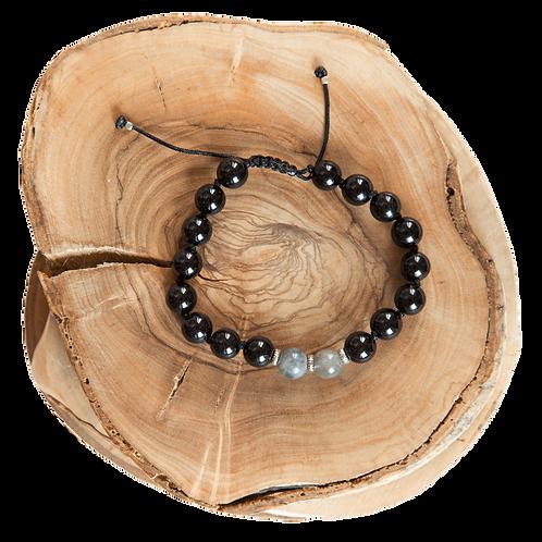 hand knotted black bracelet