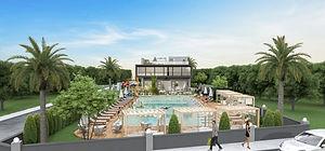 Projenin çeşitli noktalarında yüzme havuzları, teras, kafe, park ve spor salonu bulunmaktadır.