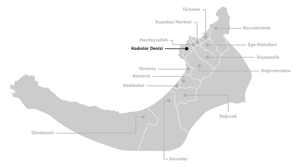Kuşadası Kadınlar Denizi Mahallesi Haritası