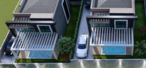 Sitede bulunan her villaya özel 16 m² özel yüzme havuzu bulunmaktadır.