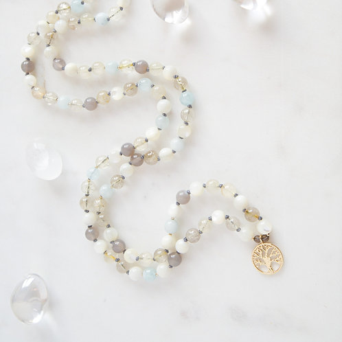 White Crystals Mala