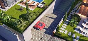 Her villaya ait kapalı garaj ile aracınızı şahsi alanınıza güvenle park edebilirsiniz.