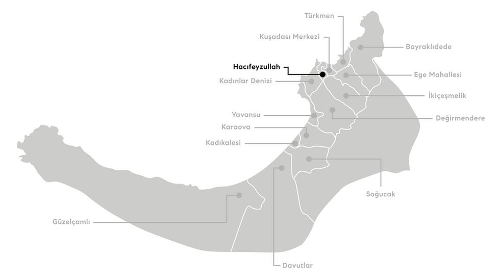 Kuşadası Hacıfeyzullah Mahallesi Haritası