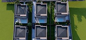Projede bulunan her villanın 180 m² büyüklüğünde yeşil alanı bulunmaktadır.