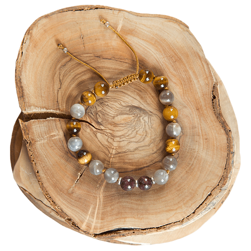 hand knotted brown male bracelet