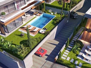 Kuşadası Soğucak'ta Deniz Manzaralı 4+1 Müstakil Villa Projesi