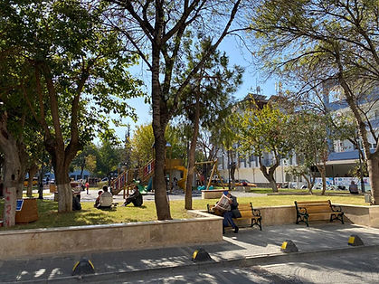 Kuşadası Türkmen Mahallesi'nde Bir Park