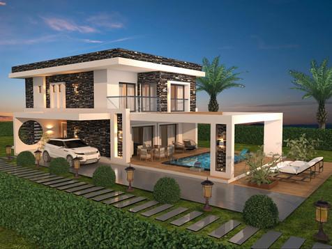 Kuşadası Kuştur'da Satılık 4+1 Özel Havuzlu Villa