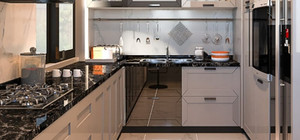 Sitede bulunan her villada 3'lü ankastre mutfak seti yer almaktadır.