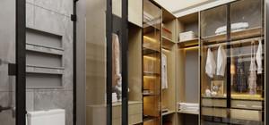 Villalarda 2 yatak odası için özel olarak giyinme odaları bulunmaktadır.