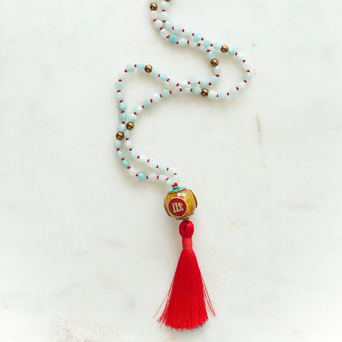 Angelit Crystals Hand Knotted Mala