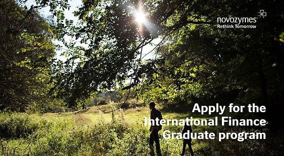 Apply for the International Finance Graduate program