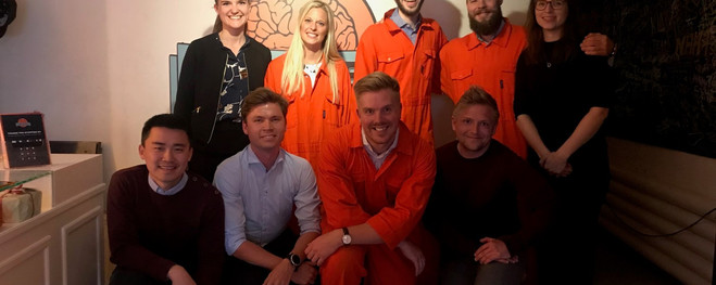 Escape Room with new and current Graduates