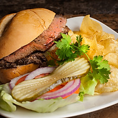 Tri-Tip Sandwich with Chips