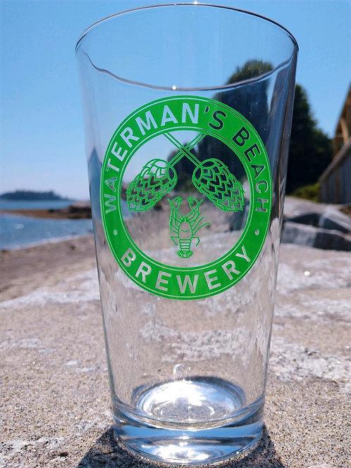 Waterman's Beach Brewery Pint Glass
