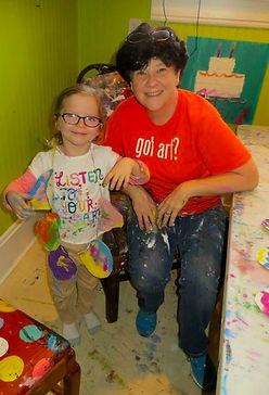 Laura Daniel with Preschool Art Student