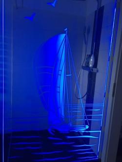 Beleuchtete Dusche