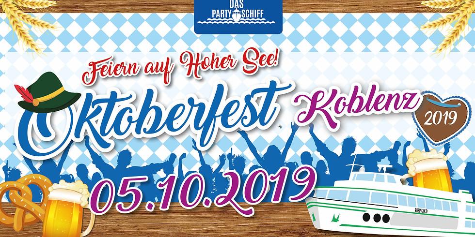Oktoberfest Partyschiff Koblenz 05.10.2019