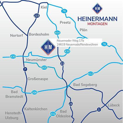 Anfahrtsskizze Heinermann Montagen