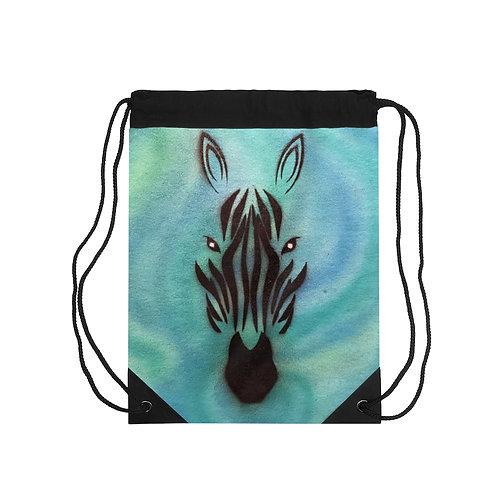 Zebra Drawstring Bag