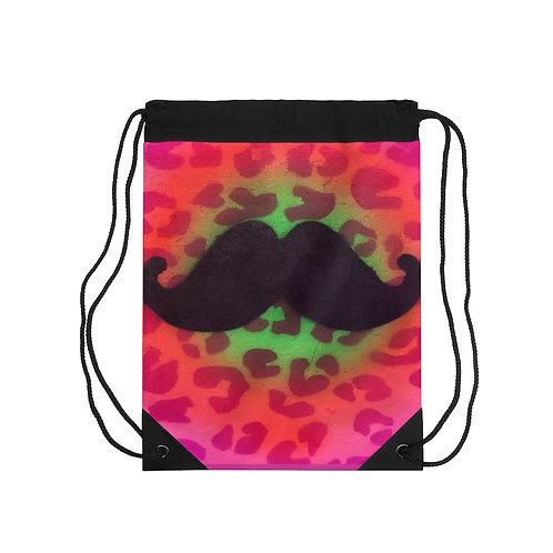 Mustache Drawstring Bag