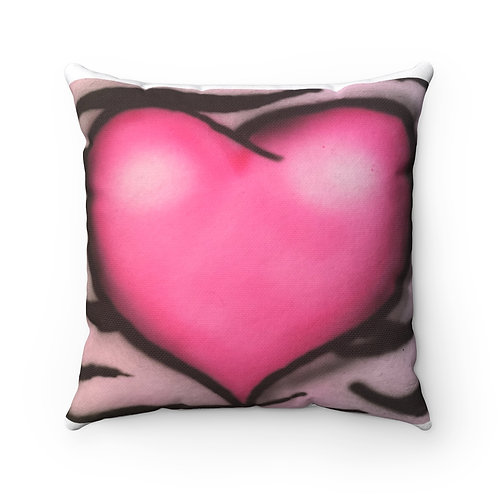 Juicy Heart Square Pillow