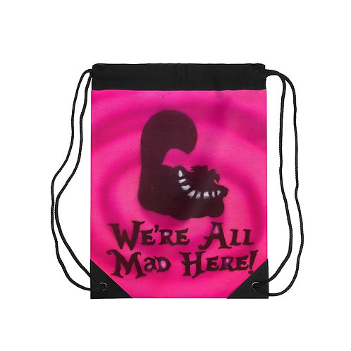 We're Mad Drawstring Bag