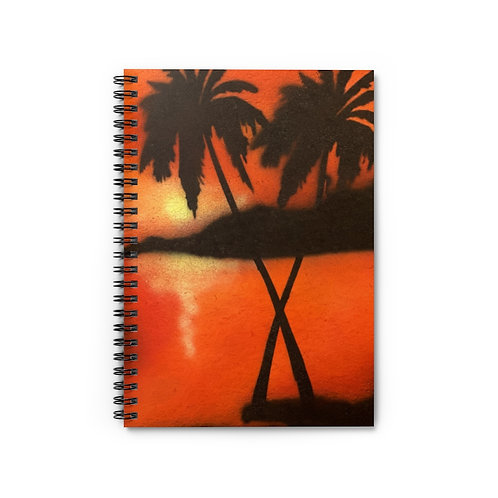 Tropical Spiral Notebook - Ruled Line