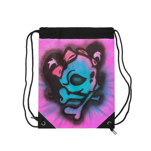 Mrs. Skull Drawstring Bag