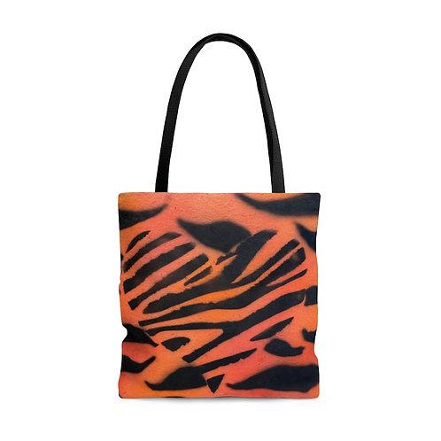 Tiger Heart Tote Bag
