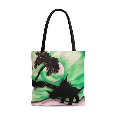 Triceratops Island Tote Bag