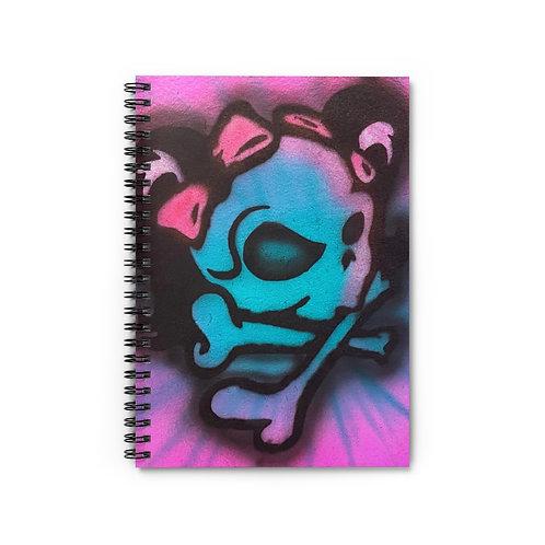 Mrs. Skull Spiral Notebook - Ruled Line