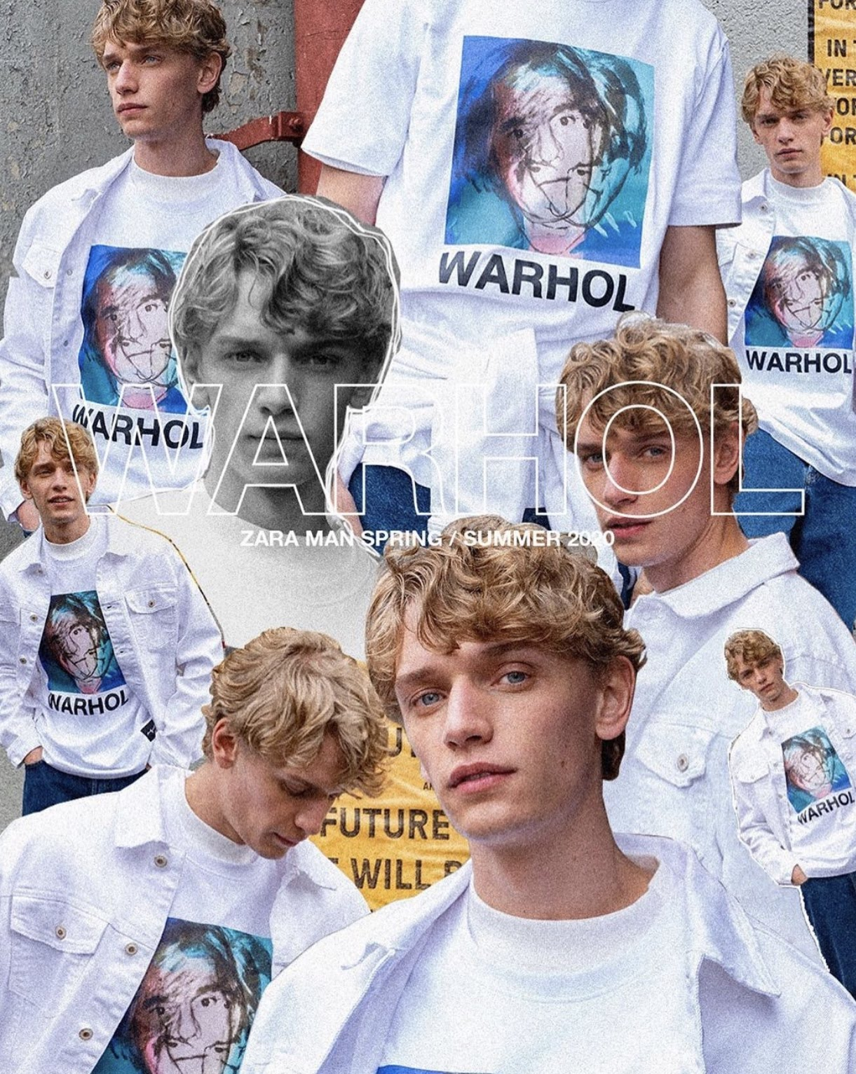 Zara Man x Andy Warhol Foundation