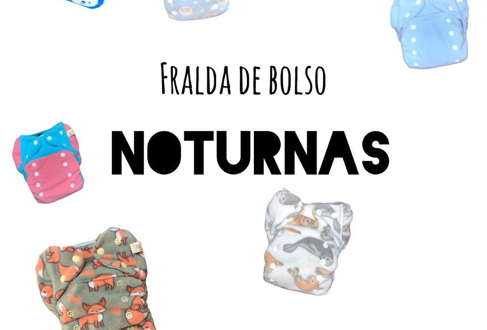 Kit 10 Fralda de bolso noturna