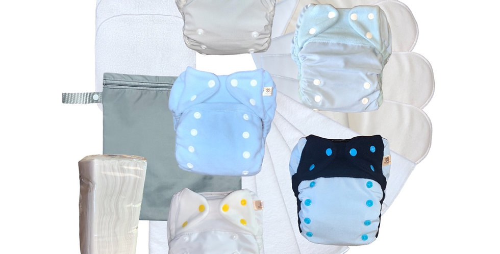 Kits Minimalista - Capas e fraldas de bolso
