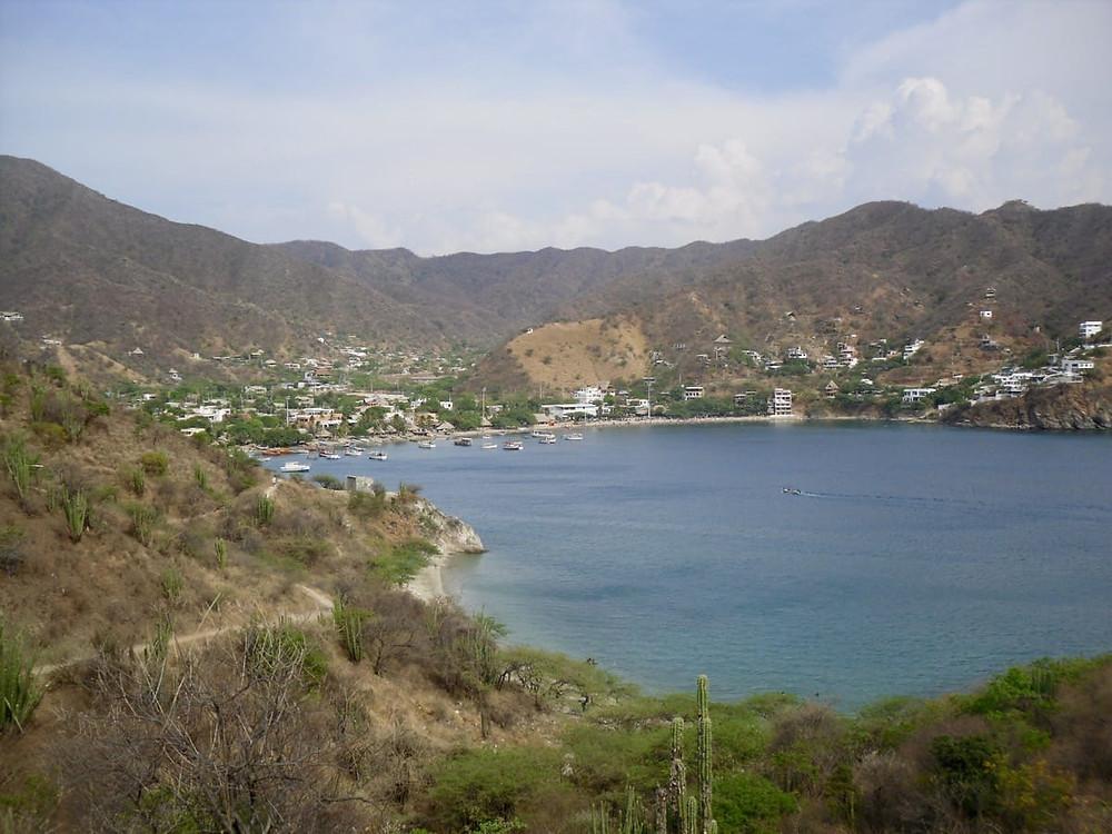 View of the bay at Taganga near Santa Marta in Colombia