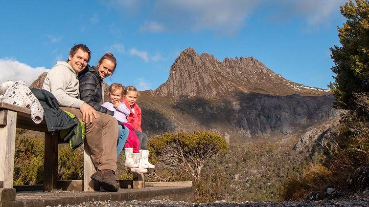 Ollie, Bronnie, Alara and Mahsa at Cradle Mountain in Tasmania