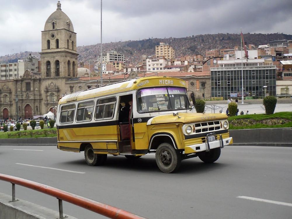 A bus in La Paz, Bolivia