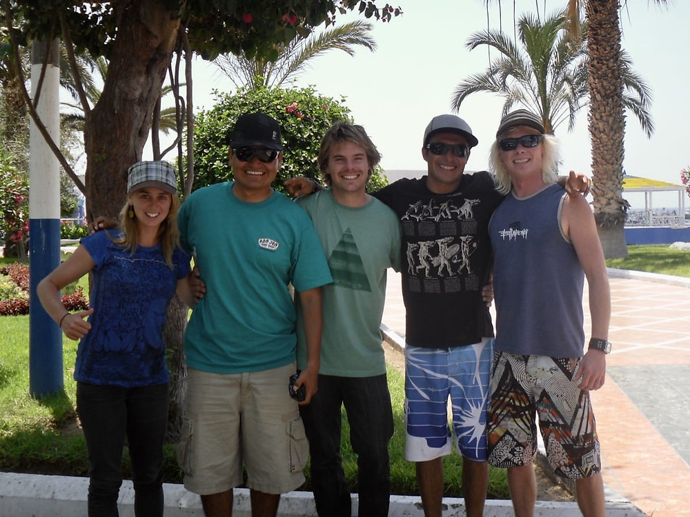 Bronnie, Jim, Ollie, Picolini, and Triff in Southern Peru at Ilo