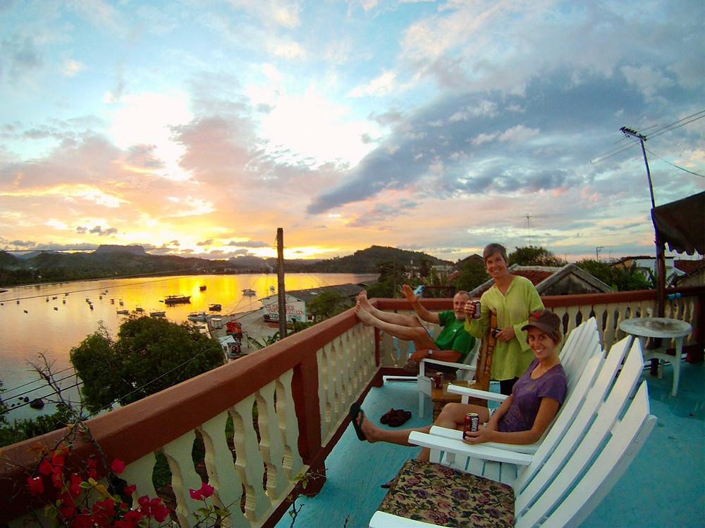 Sunset balcony in Baracoa in Cuba